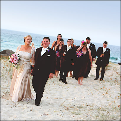 Wedding on Currumbin Beach. Elephant rock Gold Coast, Queensland.